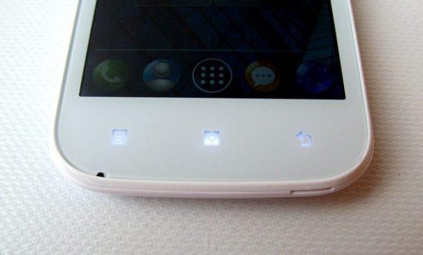 Lenovo A706 - сенсорный кнопки