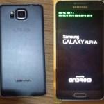 Samsung Galaxy Alpha с металлической рамкой появился на новых снимках