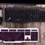Компьютерная клавиатура c подсветкой Oklick 740G в двух вариантах расцветки