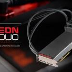 Выход AMD Radeon Pro Duo на рынок