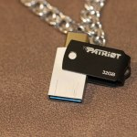 Patriot Stellar-C USB 3.1/Type-C (32 ГБ): металлический OTG-накопитель с портом Type-C и USB 3.1
