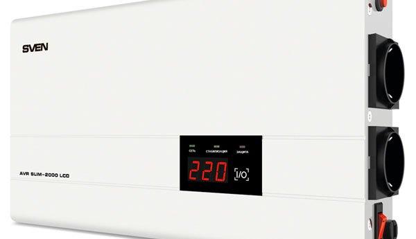 Настенный стабилизатор SVEN AVR SLIM-2000 LCD