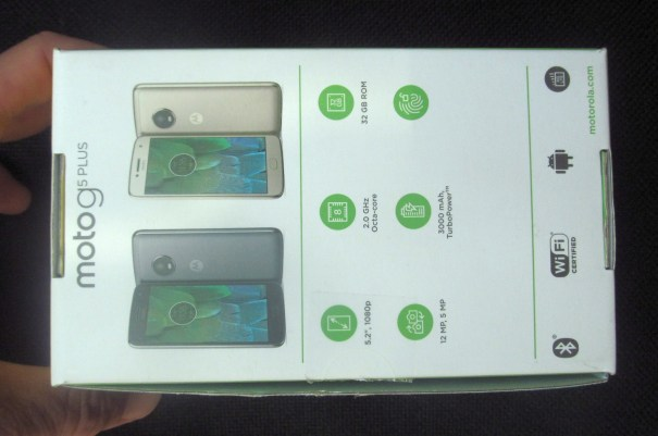 Moto G5 Plus коробка