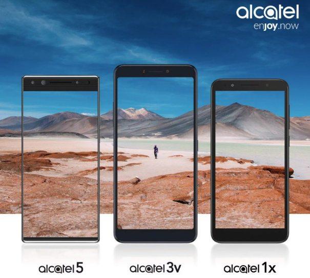 Alcatel 5, Alcatel 3V и Alcatel 1X