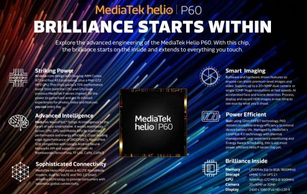 MediaTek Helio 60 характеристики