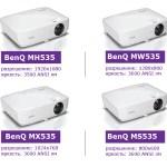 Новая бюджетная серия ярких проекторов BenQ для офисов с высоким уровнем контрастности 15 000:1
