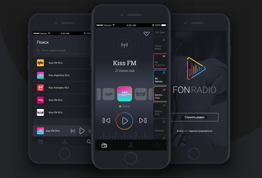 Мобильный сайт интернет радиостанции
