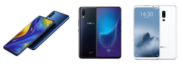 Xiaomi Mi Mix 3, Vivo NEX S, Meizu 16 Plus