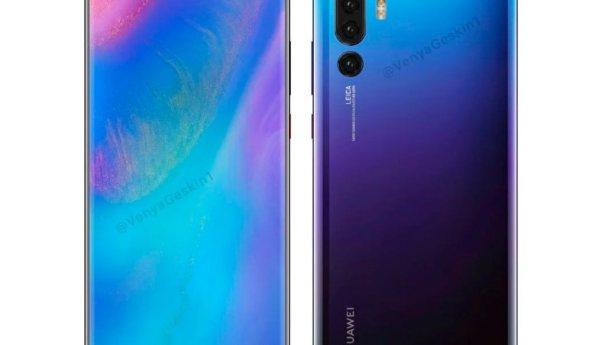 Huawei P30 Pro может получить 4 камеры и экран с каплей и закругленными краями