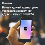 Каждый второй пользователь тестового приложения «Дія» — клиент Приват24