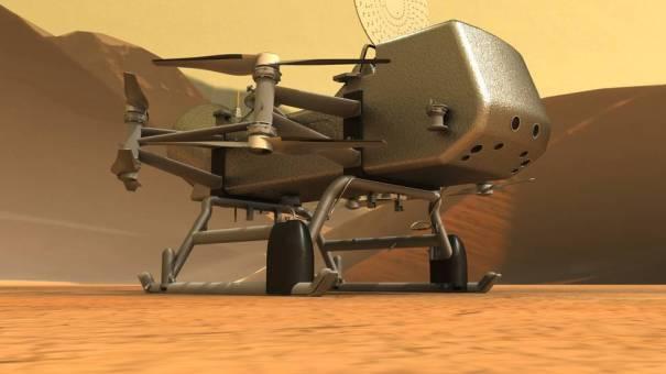 Dragonfly на поверхности Титана