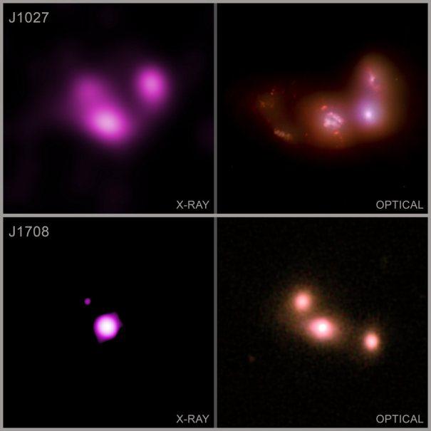 слияния галактик с черными дырами