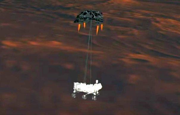 Perseverance садится на Марс