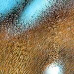 Cеверная полярная шапка Марса покрыта морем дюн
