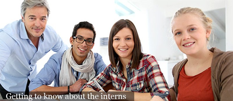 Getting to know a intern