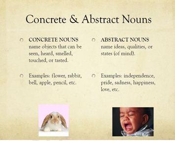 Concrete and Abstract Noun 356 × 287