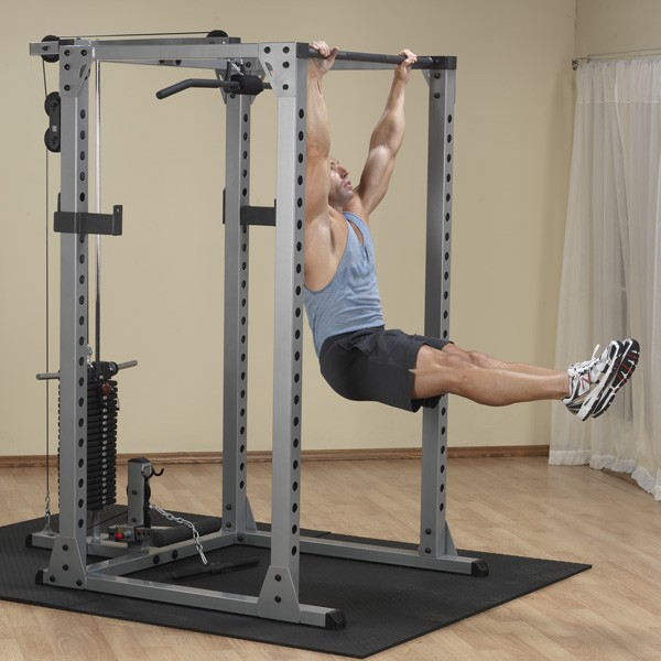 Body Solid Power Rack Home Gym Squat Rack Package Gpr378p4