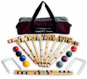 Amish-Crafted Deluxe 8-Player Croquet Game Set 2