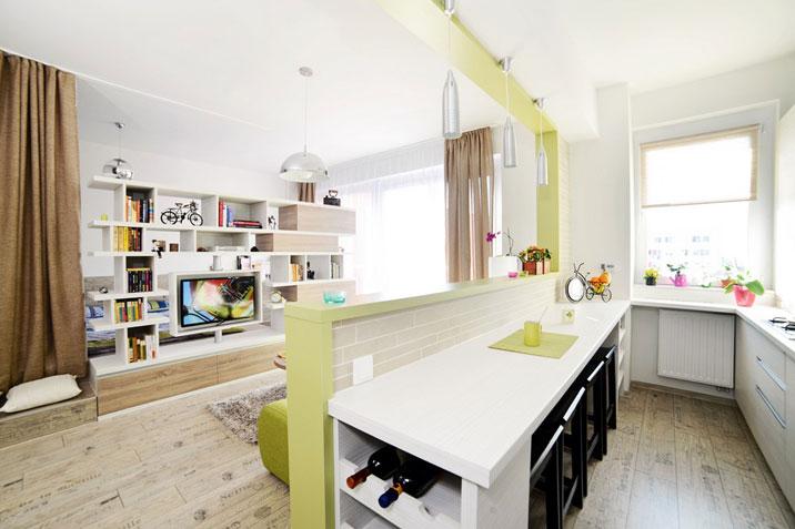 Avrei bisogno di un aiuto su come finire di arredare il mio openspace soggiorno cucina di 30 mq. Cucina Soggiorno 30 Mq Design Foto Caratteristiche Suddivisione In Zone Colori