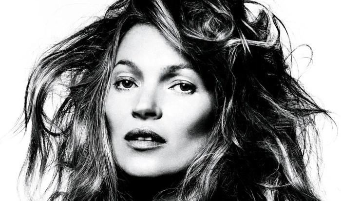 David Bailey portrait en noir et blanc de Kate Moss