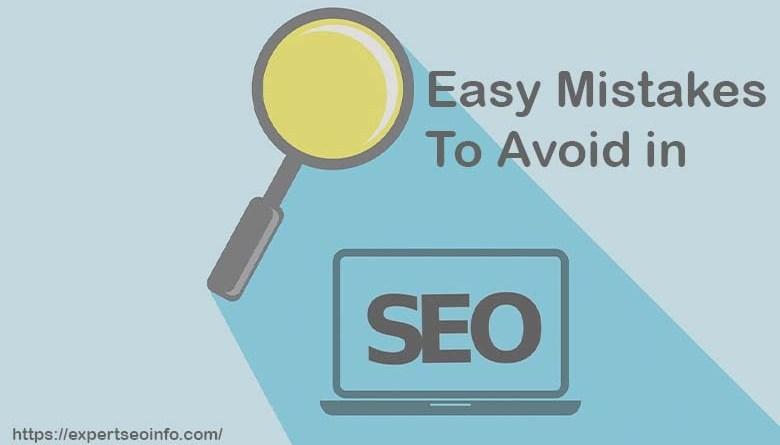 easy seo mistake to avoid