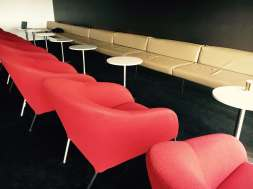 ADL LNG LEATHER BENCHES WITH BUCKET CHAIRS