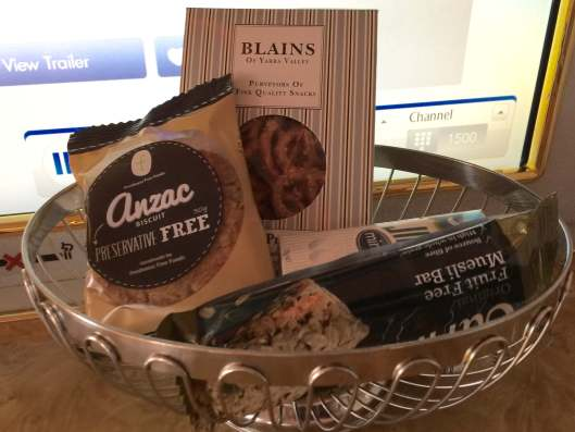 Emirates First Class snack basket