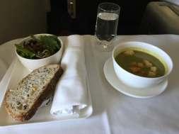 Qantas-Business-Class-soup-round-world-trip