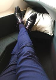 Cathay-Pacific-Business-Class-legroom-round-world-trip