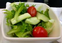 Cathay-Pacific-Business-Class-lunch-salad-round-world-trip