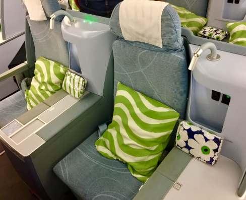 Finnair-330-JFK-HEL-couple-seats-round-world-trip