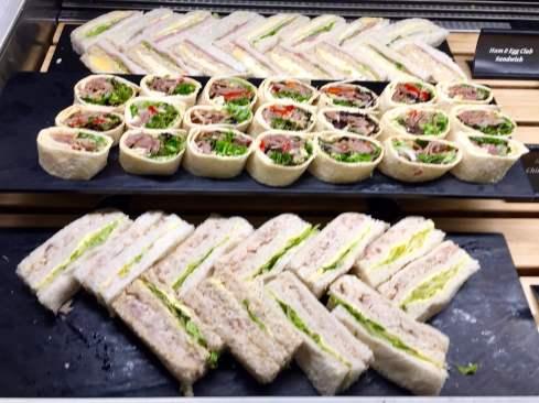 Air-New-Zealand-Lounge-Brisbane-food-sandwiches-wraps