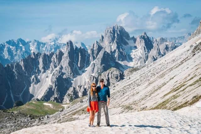 Matt and Anna Hiking