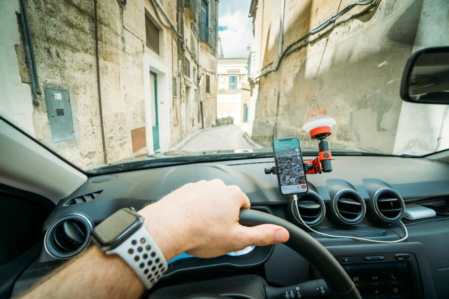Driving in Matera