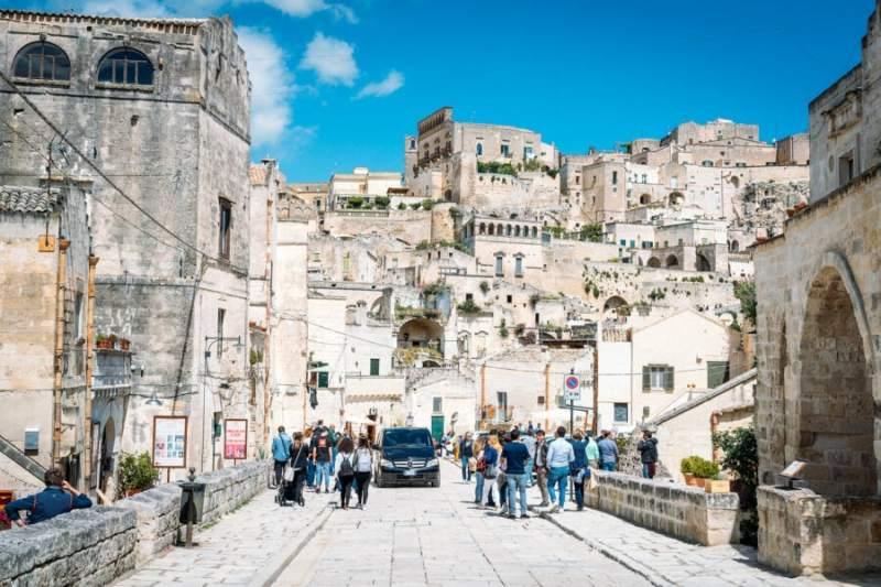 Walking around Matera Italy