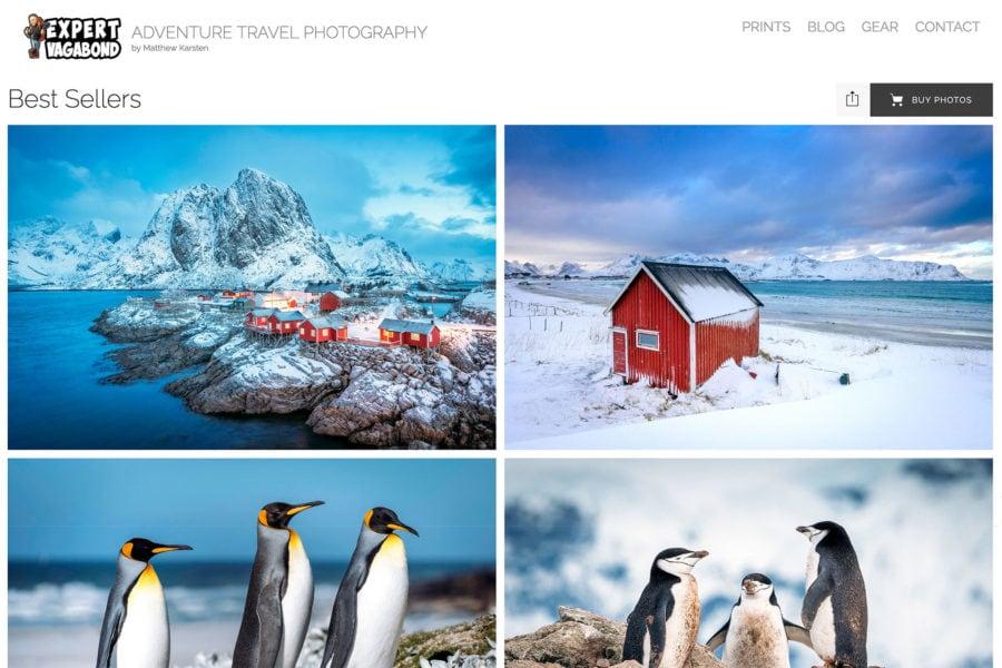 Travel Photography Website