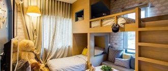 Идеи обустройства маленькой комнаты для двоих взрослых и детей