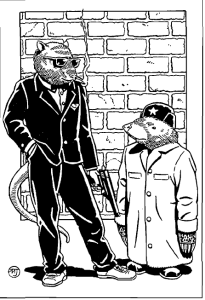 Dirty rat and a spy.