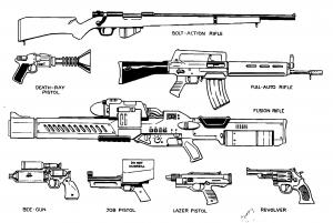 Obvious guns.