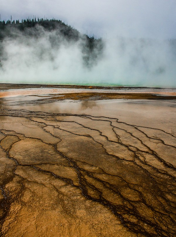 Grand Prismatic Pool. Yellowstone National Park. October 2015.