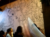 I loved the art covering the walls of this Chengdu restaurant (whose name escapes me)