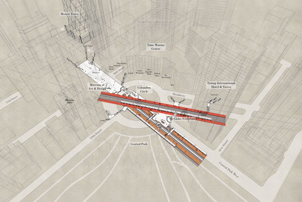 59th Street - Columbus Circle station x-ray image, by Candy Clark