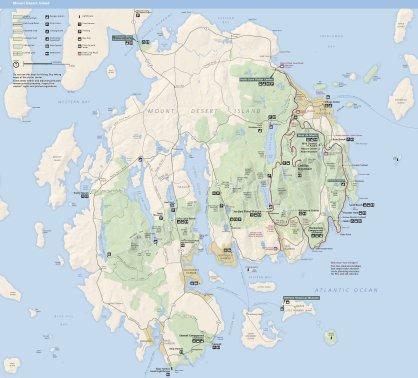 Acadia NP-map