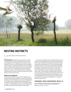 Nesting Instincts by Atelier Anonymous with Mike Seymour, in Landscapes Passages, Spring Issue 2015.