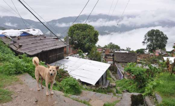 The town of Gorkha