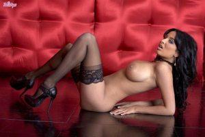 anissa-kate-strips-off-her-red-lingerie-in-black-stockings-17
