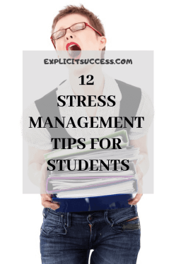 A student who needs stress management