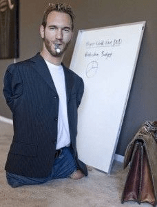 Nick Vujicic teaching