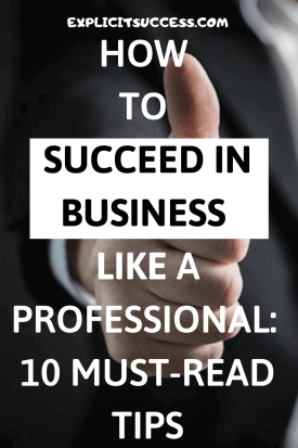 succeed in business like a professional