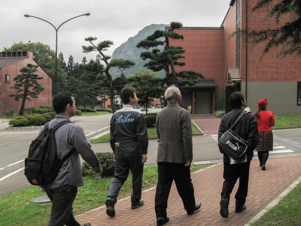 A Tour Group at Nikka Distillery in Sendai